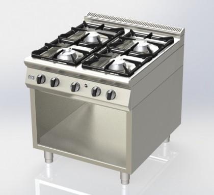 Cuisinière 4 feux sur placard