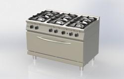 cuisinière 6 feux